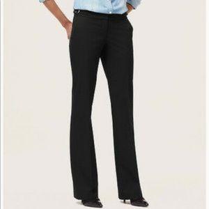 LOFT Julie Trousures Black Buckles Pockets Size 2